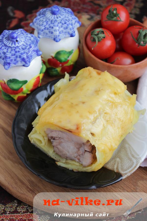 Свинина в картофеле с сырной корочкой