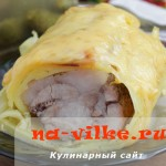 Запекаем картофель со свининой и сыром в духовке