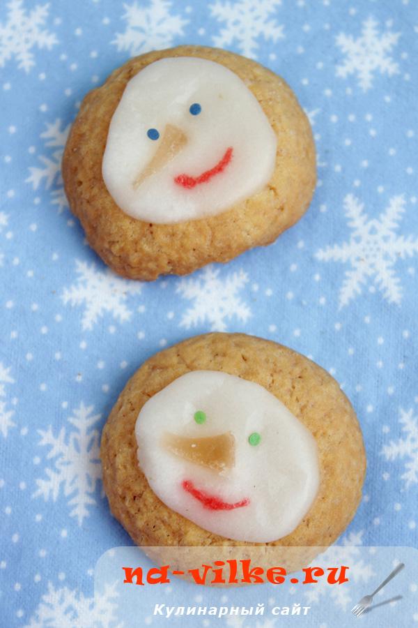 Печенье Снеговики