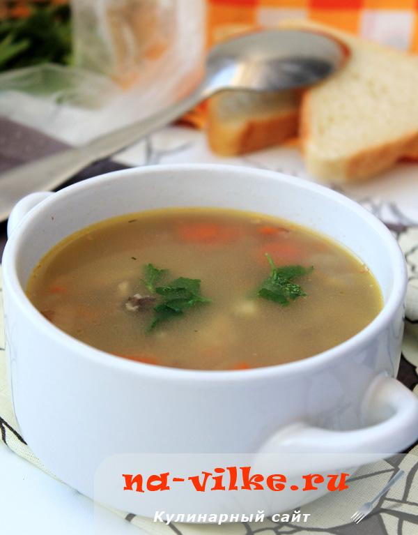Гречневый суп на куриных крылышках