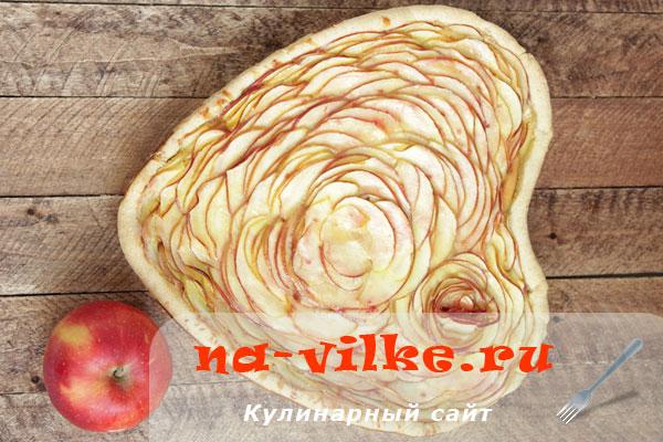 Французский пирог тарт с яблочной начинкой
