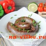 Печеночная домашняя колбаса в кишках