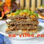 Рецепт приготовления закусочного торта из свиной печени