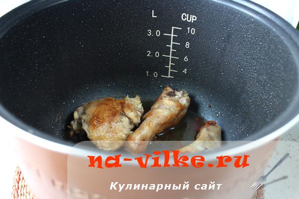 Жарка курицы в мультиварке