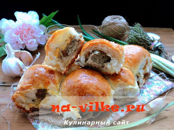 Пирожки с печенью и картофелем