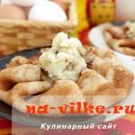 Ржаные блины с картофельной начинкой