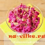 Полезный и оригинальный салат на основе свеклы и сыра