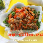 Тушеные с овощами в мультиварке куриные желудочки