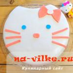 Украшение бисквитного торта мастикой