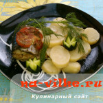 Готовим скумбрию в картофелем и томатами в мультиварке