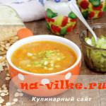 Наваристый гороховый суп из хлопьев с ребрышками