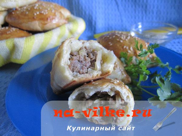 Пирожки с капустой и мясом