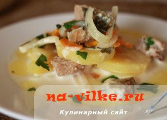 Говядина запеченная с картофелем в молоке