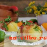 Вкусный картофель в духовке с ароматом копченого бекона и сыра
