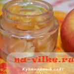 Густое яблочное варенье при помощи духовки