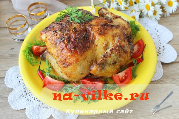 Курица, запеченная в духовке с майонезом и приправой «10 овощей»