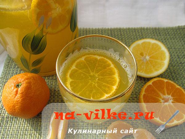 Полезный мандариновый лимонад по домашнему рецепту