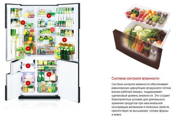Японские холодильники оснащены системой контроля влажности