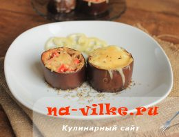Баклажаны с яйцом и помидором под сыром в духовке
