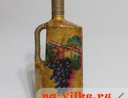 Декупаж бутылки вина