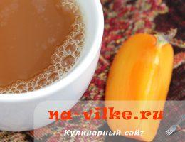 Готовим согревающий имбирный чай с корицей и хурмой