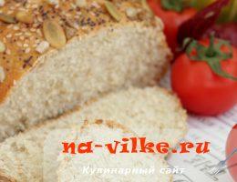 Вкусный домашний хлеб с кунжутом, маком, тыквенными семенами