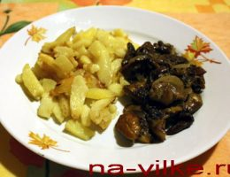 Грибы жареные с картофелем