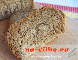 Пшенично-ржаной хлеб в хлебопечке Панасоник
