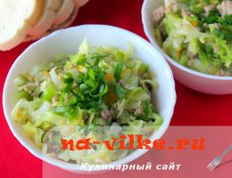 Готовим вкусную тушеную капусту с фаршем в мультиварке