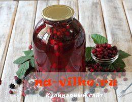 Готовим вкусный и полезный ежевично-кизиловый компот
