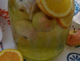 Компот из яблок с апельсинами на зиму без стерилизации
