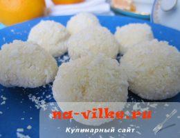 Домашние кокосовые конфеты из сгущёнки и орехов