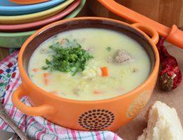 Густой куриный суп