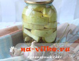 Маринованные кабачки с лимонной кислотой