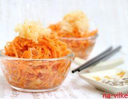 Салат из коралловых грибов и моркови по-корейски