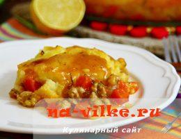 Запекаем открытый пирог с овощами и мясом