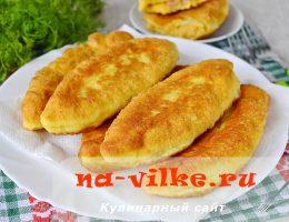 Домашние румяные пирожки с гороховой начинкой