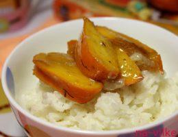 Рисовая каша с хурмой