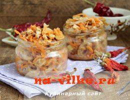 Острый салат из говяжьего рубца с морковью по-корейски