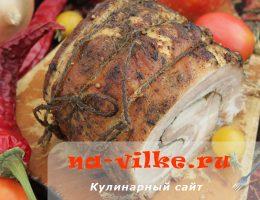 Запекаем красивый и вкусный рулет из свиной пашины в духовке