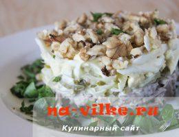 Салат из свиного языка с огурцами