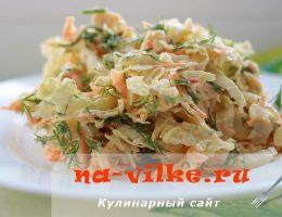 Салат из пекинской капусты с яйцом и куриным филе