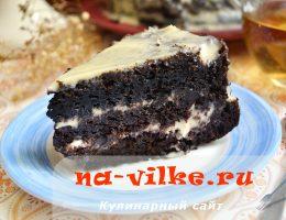 Шоколадный торт на крутом кипятке
