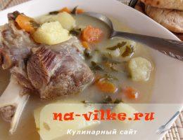 Суп из козы с овощами (Гида врасты)