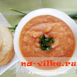 Овощной суп-пюре с кабачком