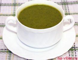 Суп-пюре с зелёным горошком