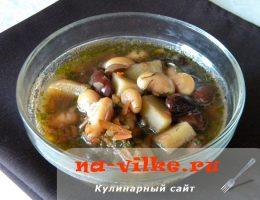 Диетический суп с фасолью