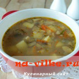 Суп из шампиньонов с гречкой в мультиварке Redmond