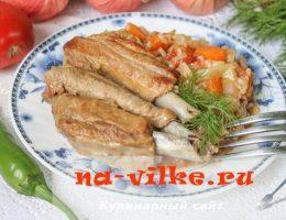 Готовим тушеные свиные ребра с овощами