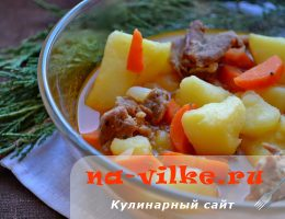 Тушеный картофель со свининой и овощами